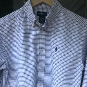 RALPH LAUREN LS BUTTON FRONT SHIRT-LIKE NEW-XL(20)